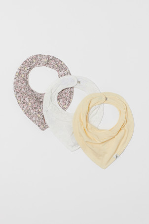 3-pack cotton triangle scarves