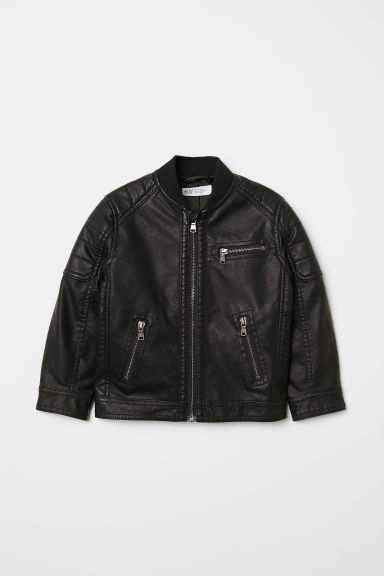 Biker Jacket - Black - Kids | H&M US