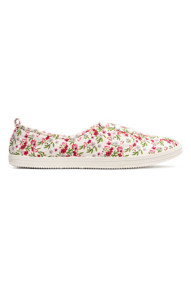 Trainers - White/Floral -  | H&M