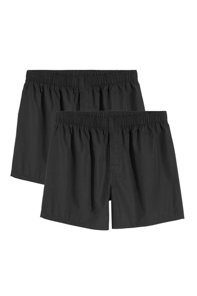 Boxers in a pima cotton weave - Black - Men | H&M
