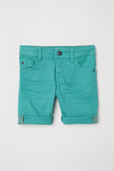 Knee-length twill shorts - Light green -  | H&M CN