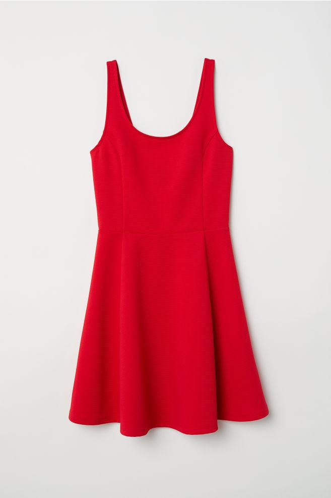 1fbc56cb4ef11 Sleeveless Jersey Dress - Red -