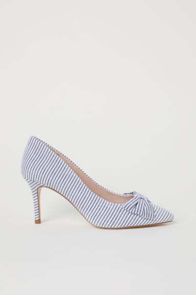 Striped court shoes - Blue/White striped - Ladies | H&M CN