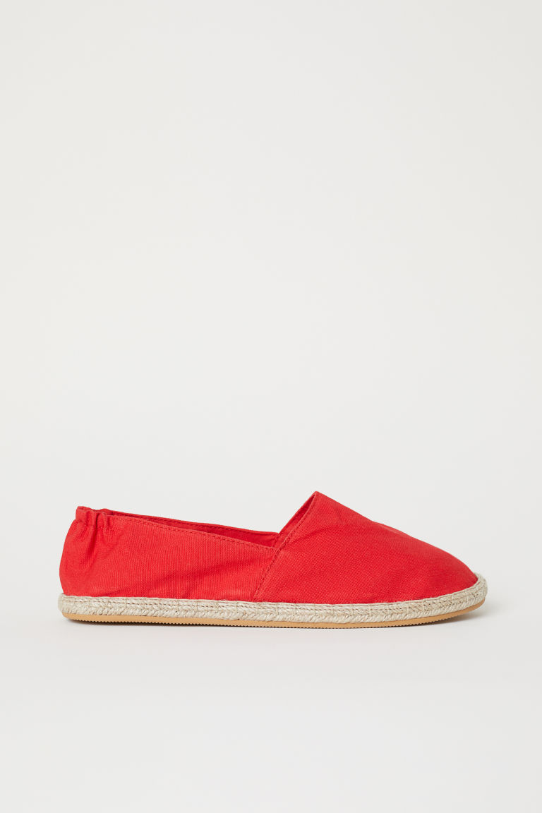 Espadrilles - Bright red -  | H&M