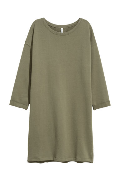 Sweatshirt dress - Khaki green - Ladies | H&M IE