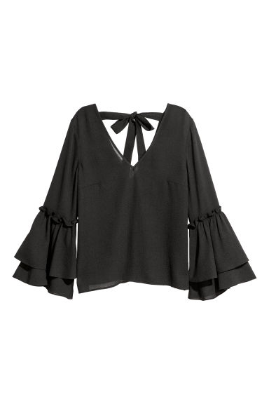 Top met volants - Zwart - DAMES | H&M BE