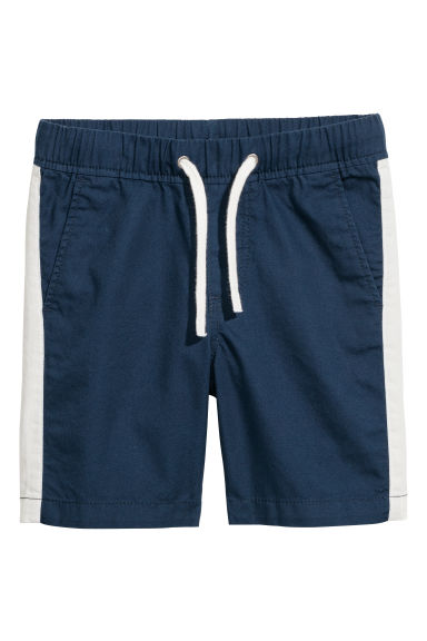 Twill shorts - Dark blue/Side stripes -  | H&M