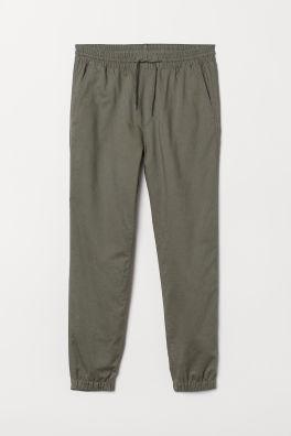 1ba139d62b8 Pantalon jogger en lin mélangé