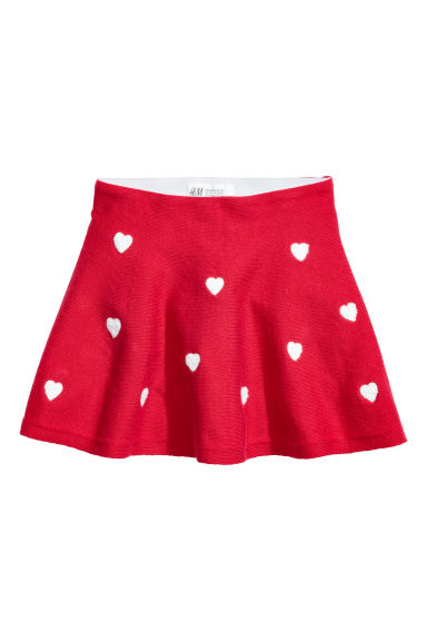 Skirt with hearts - Red/Hearts - Kids | H&M CN