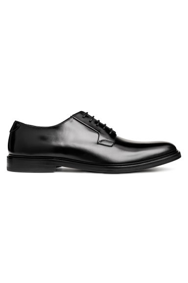 Leather Derby shoes - Black -  | H&M GB