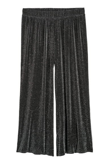 H&M+ Glittery trousers - Black/Glittery - Ladies | H&M