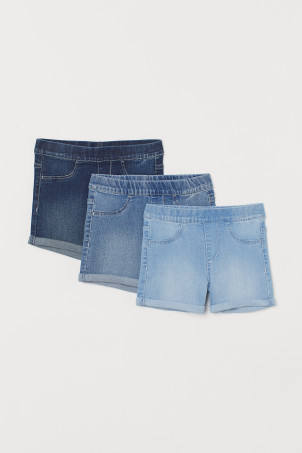 3-pack jeansshorts