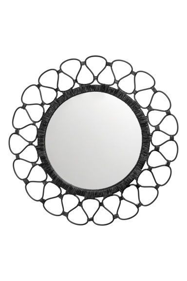 Round mirror - Black -  | H&M CN