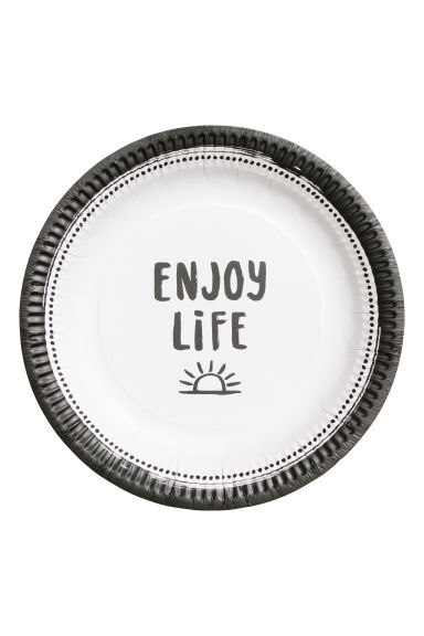 10-pack papperstallrikar - Vit/Enjoy Life -  | H&M FI