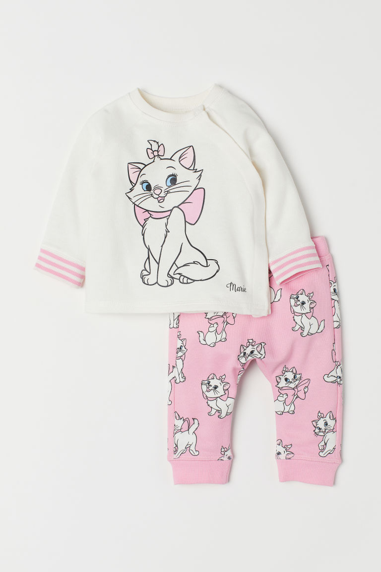 Top and trousers - Pink/Aristocats - Kids | H&M CN