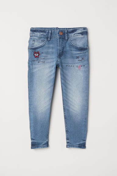 Relaxed Tapered Fit Jeans - Bleu denim clair -  | H&M CH