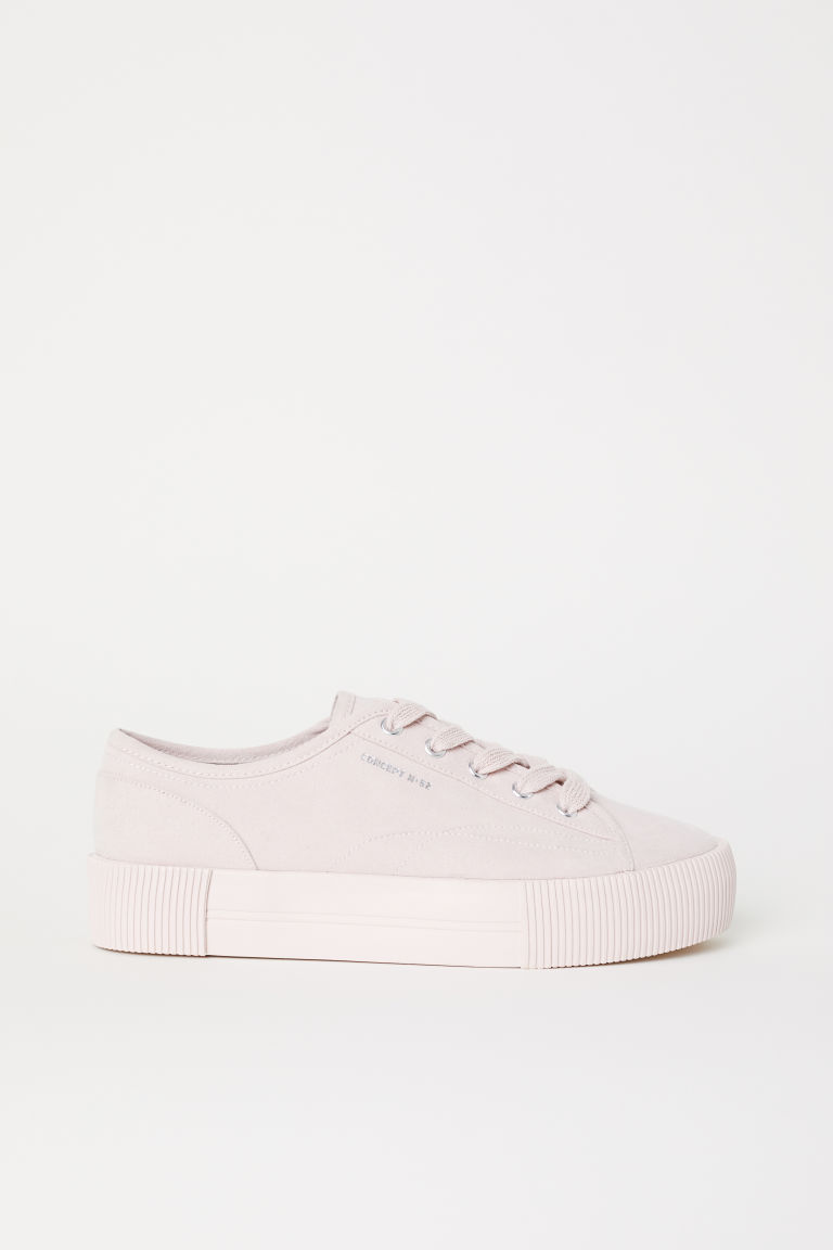 Platform trainers - Powder pink - Ladies | H&M CN
