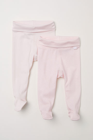 2-pack jersey trousers - Light pink - Kids | H&M