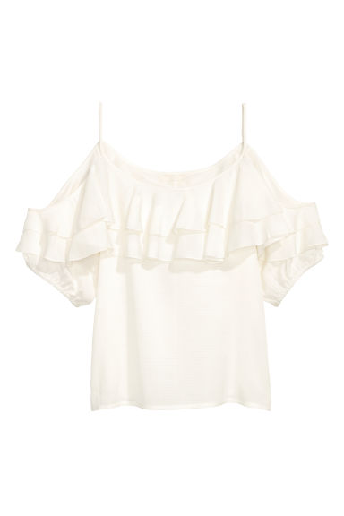 Top hombros cut-out - Blanco natural - MUJER | H&M ES