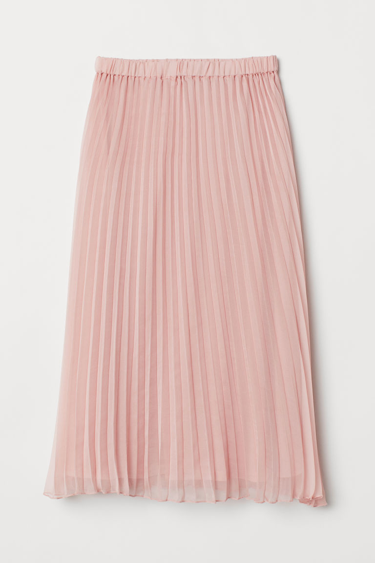 Pleated skirt - Light pink -  | H&M IN