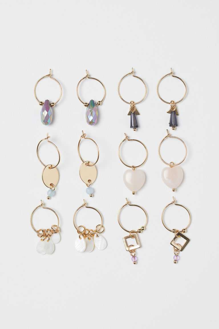 6 pairs earrings - Gold-coloured - Ladies | H&M GB