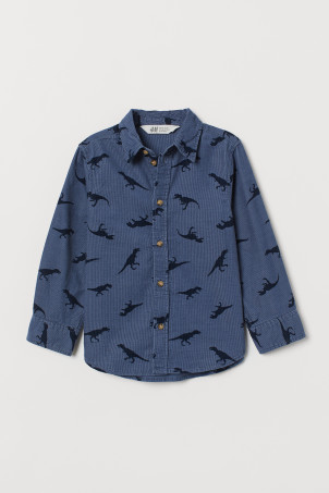 Patterned corduroy shirt