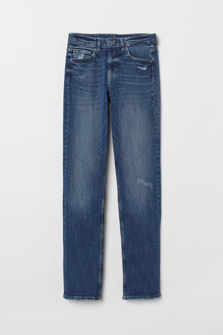 Straight Regular Jeans - Donker denimblauw -  | H&M BE