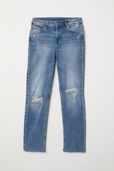Girlfriend Regular Jeans - Denimblauw - DAMES | H&M BE
