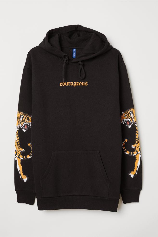 0c85ba78158 Hooded Sweatshirt - Black Courageous - Men