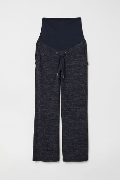 MAMA Fine-knit trousers - Dark blue marl - Ladies | H&M
