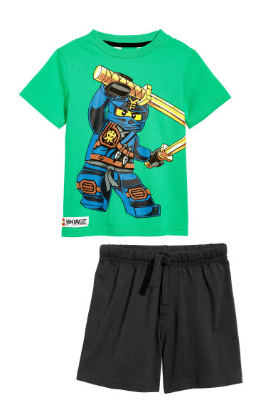 Printed pyjamas - Green/Ninjago - Kids | H&M CN