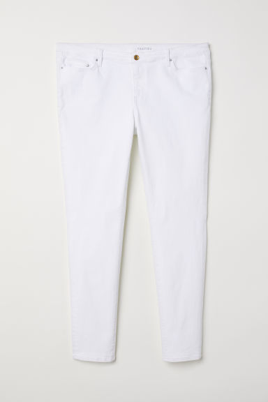 H&M+ Shaping Skinny Jeans - Wit denim -  | H&M BE