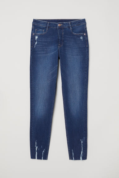 Skinny Regular Ankle Jeans - Albastru-denim -  | H&M RO