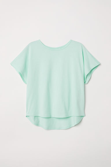 Modal-blend top - Light turquoise -  | H&M