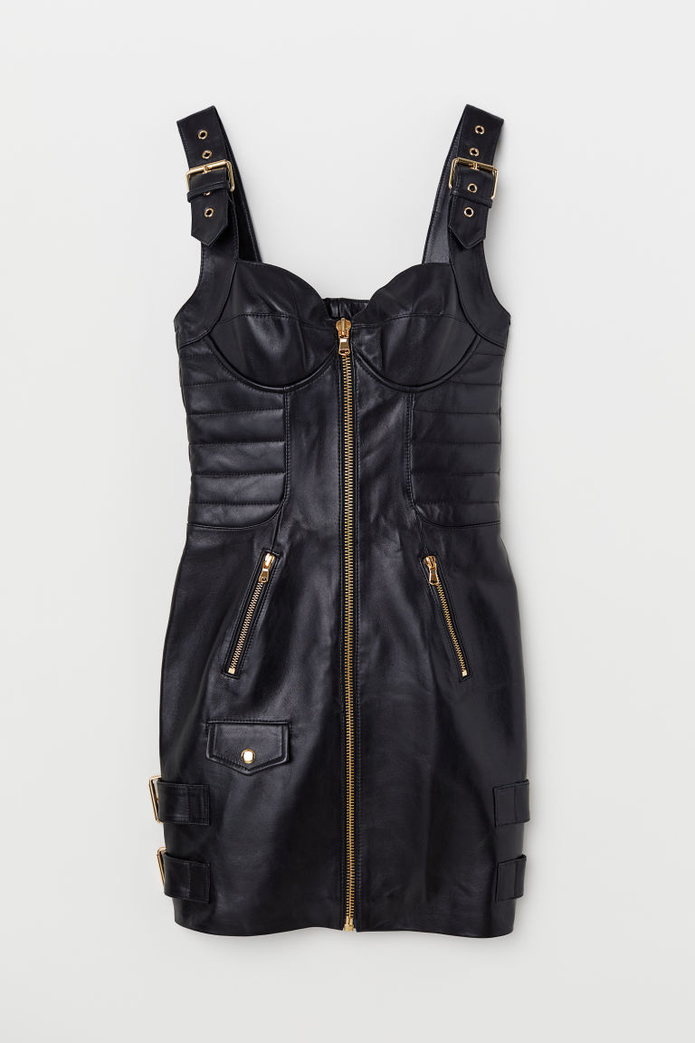 Leather dress - Black - Ladies | H&M GB