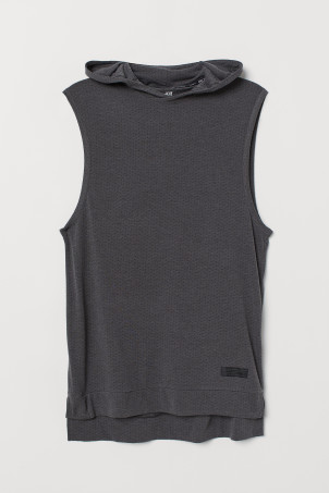 Hooded sports vest top