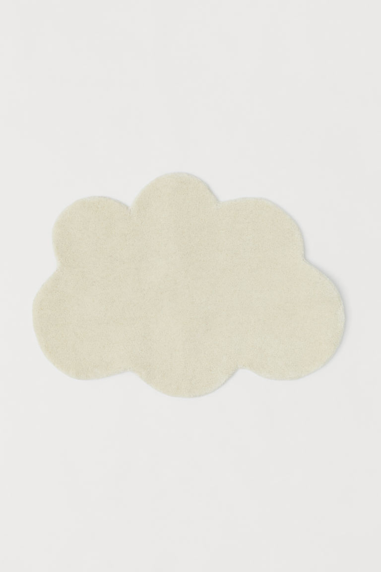 Cloud-shaped rug - Natural white - Home All | H&M CN