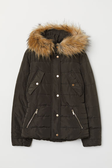 Padded Jacket - Dark green - Ladies | H&M US