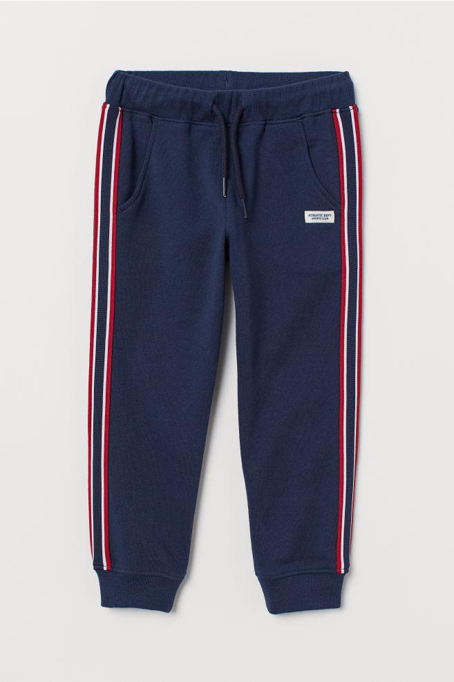 9460944e6 Joggers with side stripes - Dark blue - Kids | H&M ...