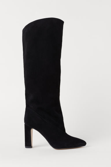 Suede boots - Black - Ladies | H&M CN