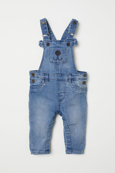 Denim Bib Overalls - Light denim blue - Kids | H&M CA
