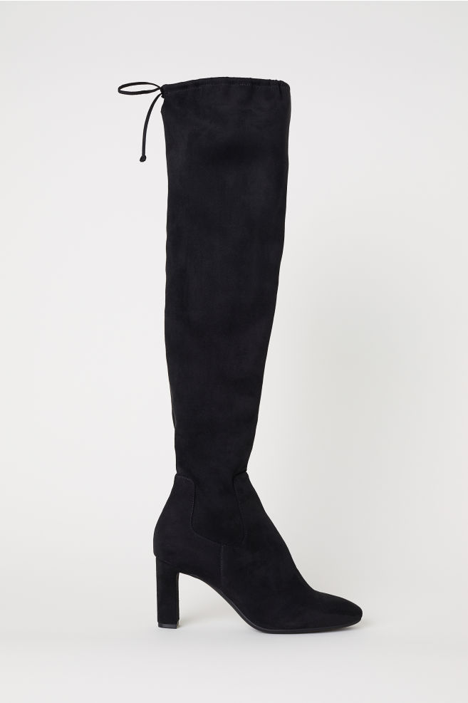 Thigh-high Boots - Black - Ladies  2aa74113b