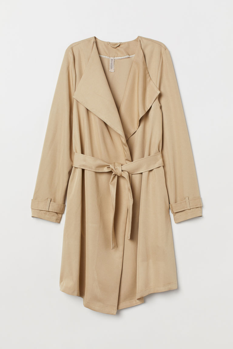 Mantel met striklint - Beige -  | H&M BE