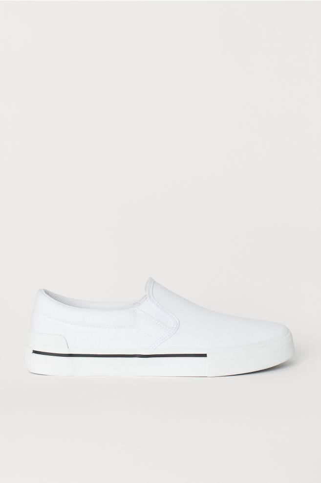 d1daa5220c8 Slip-on sneakers van canvas - Wit - HEREN | H&M ...