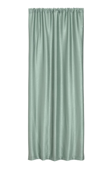 Textured-weave curtain length - Dusky green - Home All | H&M CN