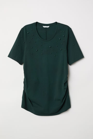 MAMA Top con perline - Verde scuro - DONNA | H&M IT