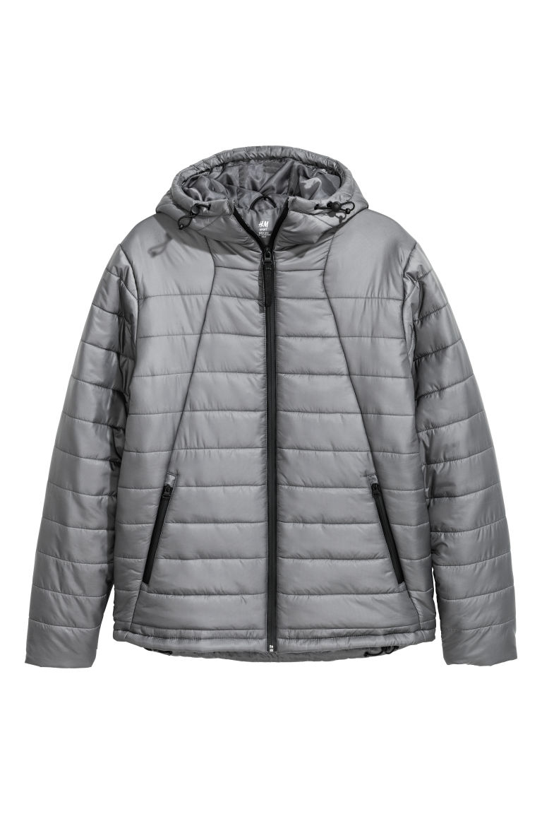 Padded sports jacket. - Grey - Men | H&M