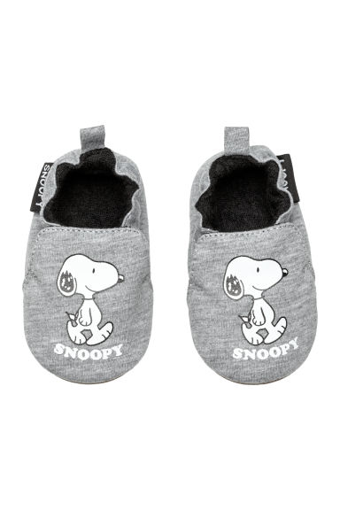 Soft slippers - Grey/Snoopy -  | H&M CN