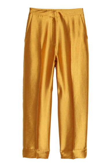 Wide suit trousers - Gold-coloured - Ladies | H&M