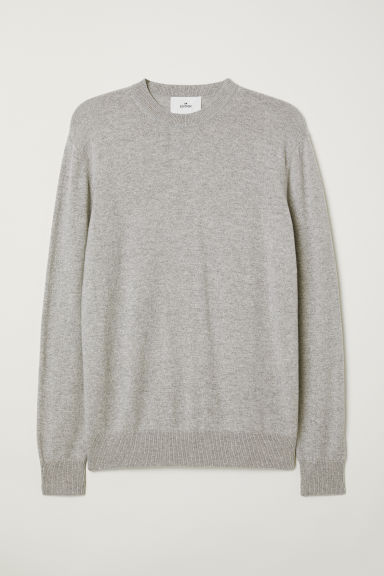 Cashmere jumper - Light grey - Men | H&M
